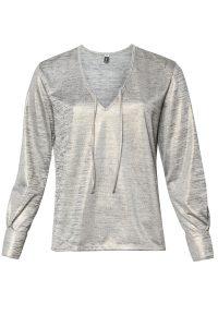 R1051/1 Syes talles grandes, Remera lurex con puños de camisa